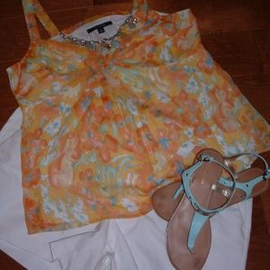 Summer Clearance Chadwicks Size 14 Orange Tank
